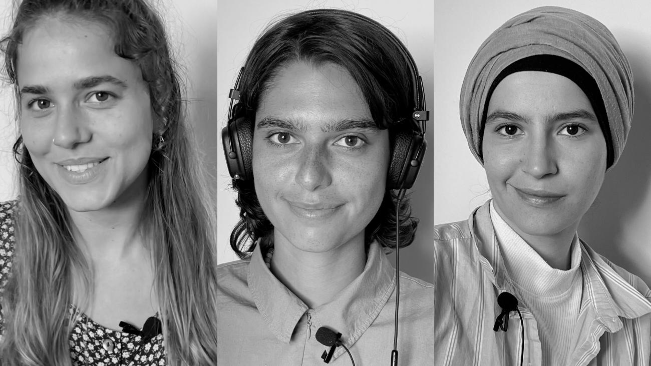 Les Paysannes<br /> Emma Homère, Inès Baccino, Hajar Outdili